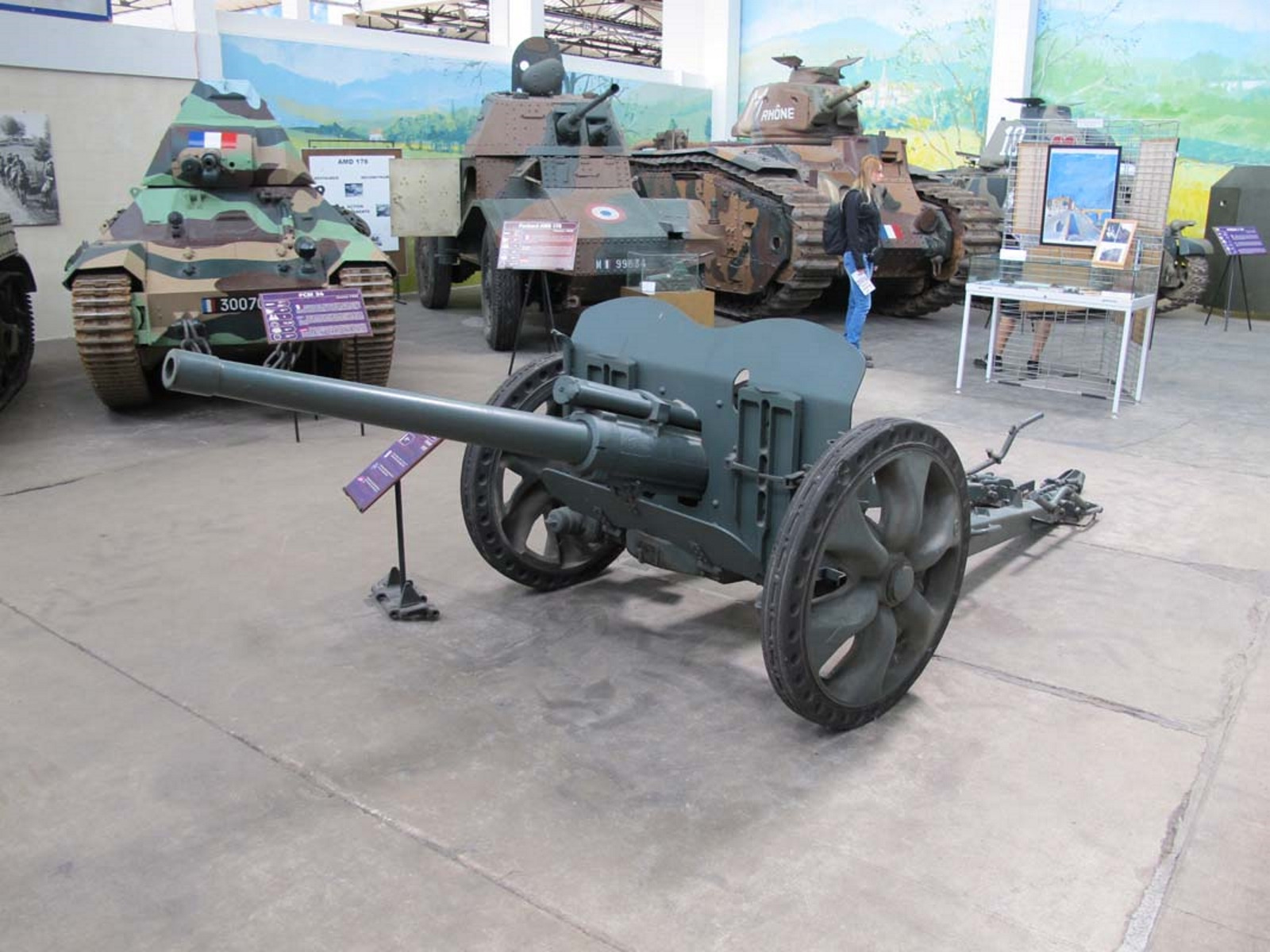 French 47mm SA37 Anti-Tank Gun
