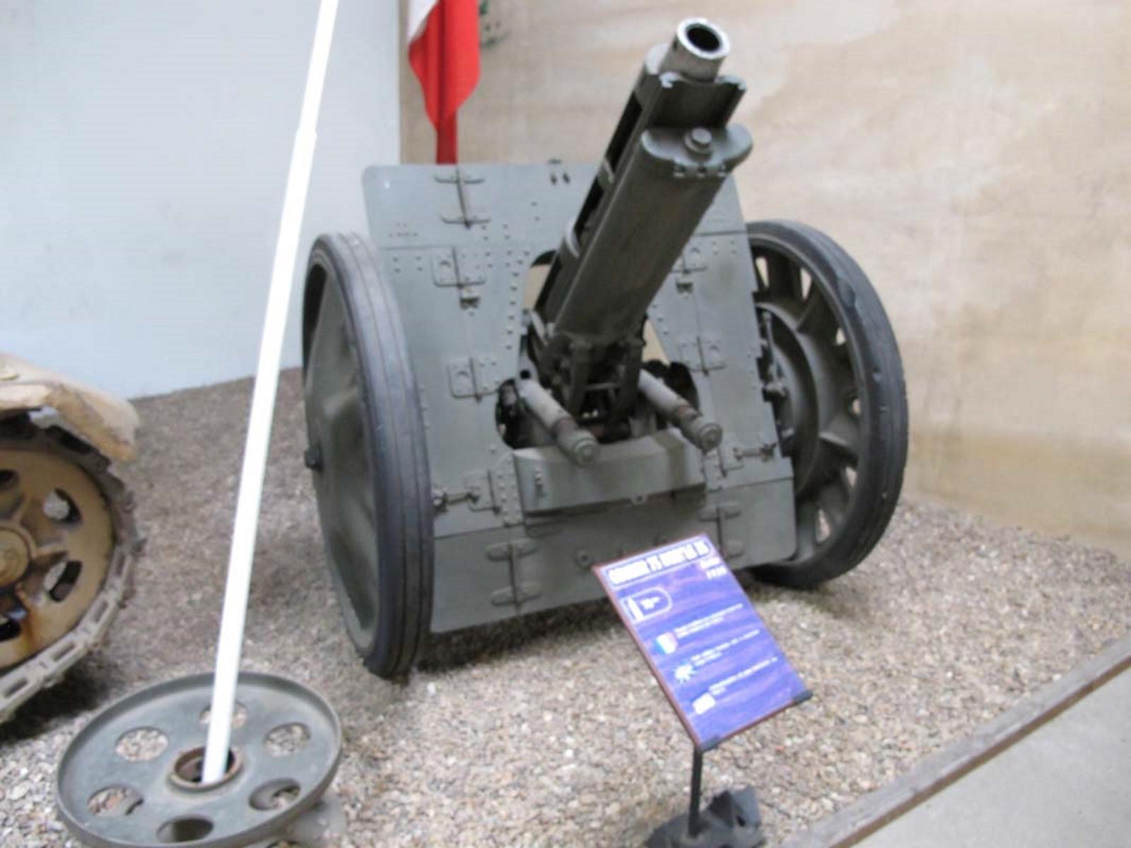 Italian Obice da 75mm-18 Modello 35