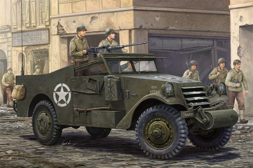 """U.S. M3A1 """"White Scout Car"""" Late Production - HOBBY BOSS 82452"""