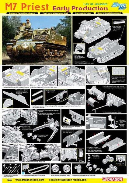 M7 Priest Tidig produktion - DML 6627