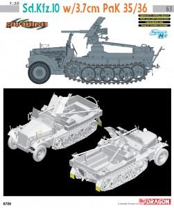 Sd.Di autoveicoli.10 w/3.7 cm PaK 35/36 - CYBER-HOBBY 6709