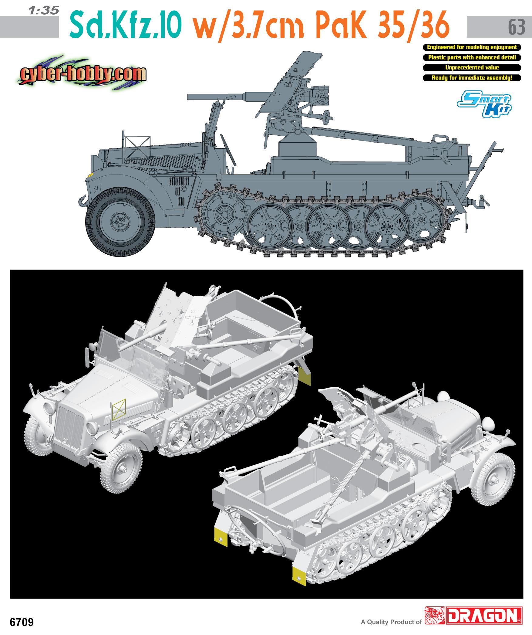 Sd.Το αμάξι.10 w/3.7 cm PaK 35/36 - CYBER-HOBBY 6709