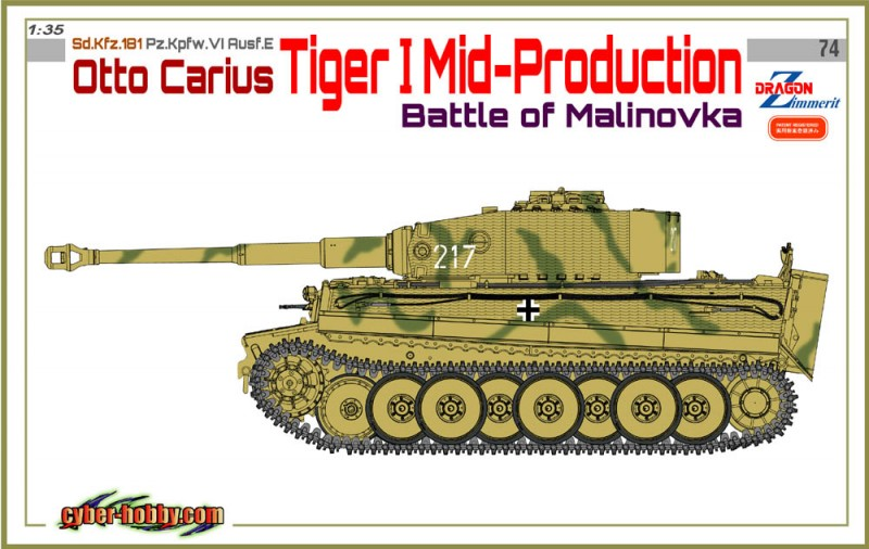 Sd.Bil.181 Pz.Kpfw.VI Ausf.E - Otto Carius - Cyber Hobby 6763