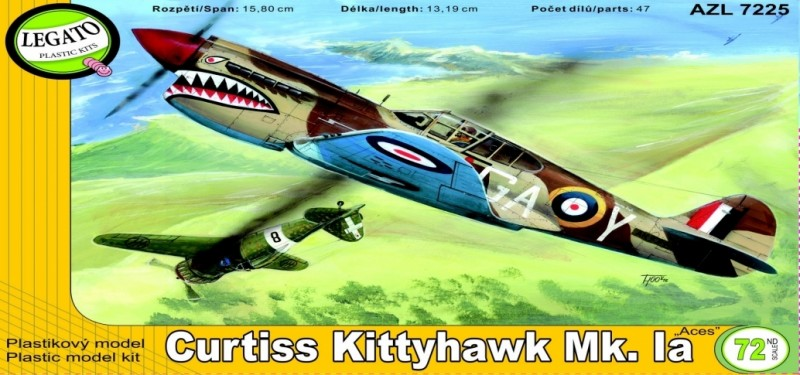 "Curtiss Kittyhawk MK.IA - AZ-Modell ""Legato"" 7225"