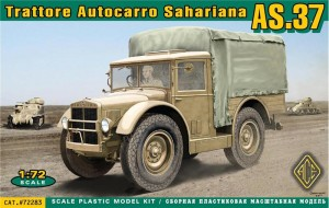 Ace Models 72283 - Trattore Autocarro Sahariano AS.37