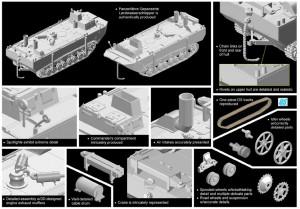 Tank vezetés Páncélozott föld, víz traktor Prototípusát Nr. II. - DML 7490