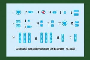 Russian Navy Alfa Class SSN - HOBBY BOSS 83528