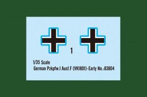 ドイツ軍Pz.kpfw.私立てキットです。●F(VK18.01)-早期-ホビーボス83804