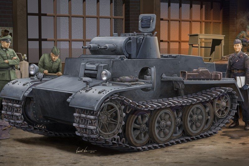 German Pz.kpfw.I Ausf.F (VK18.01) - Early - HOBBY BOSS 83804