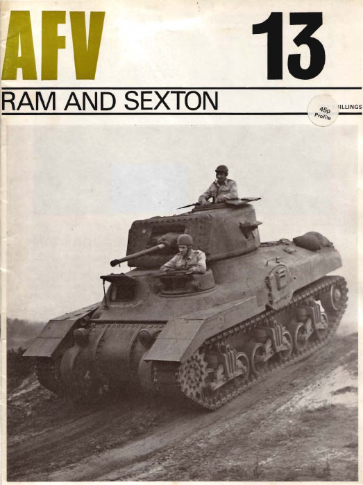 AFV Weapons Perfiles De 13 de Ram tanque and Sexton