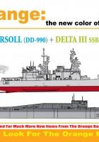 U. S. S. Ingersoll + DELTA III SSBN - Cyber-Hobi 7114