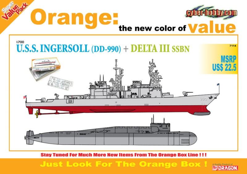 U. S. S. Ingersoll + DELTA III SSBN - Cyber-Hobby 7114