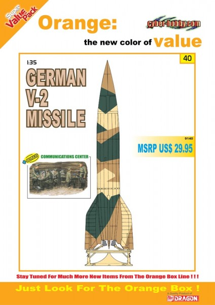 L'Allemand V-2 Missiles Cyber-Hobby 9140