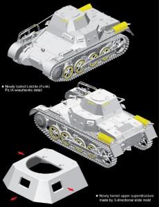 Легкі (Бездротовий) Pz.Kpfw.I Ausf.A - DML 6591