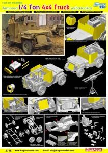 Obrněné 1/4 Ton 4x4 Truck w/Bazooka - DML 6748