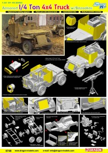 Pancerne 1/4 ton truck 4x4/Bazooka - ДМЛ 6748