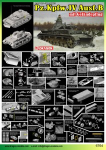 Pz.Kpfw.IV Ausf.B met het terrein van de ploeg - DML 6764