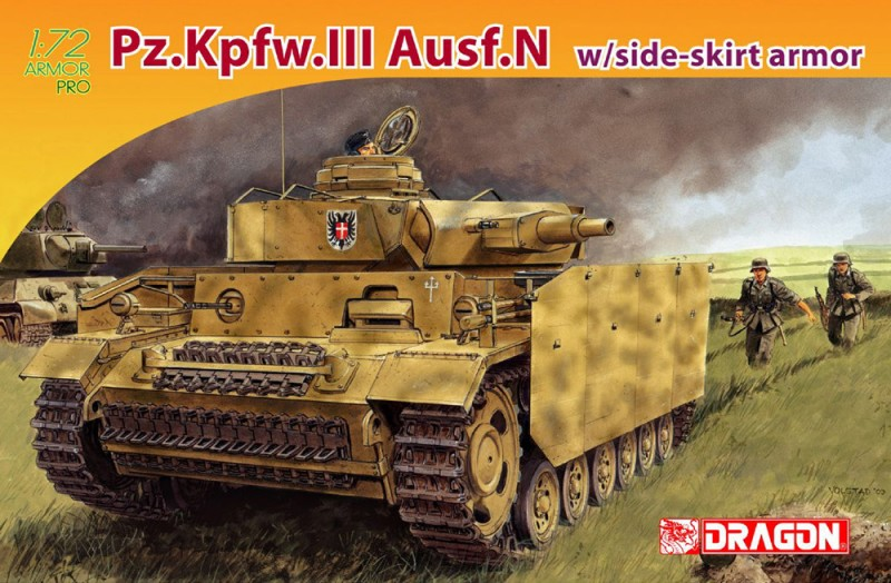Pz.Kpfw.III Ausf.N w/side-gonna armatura - DML 7407