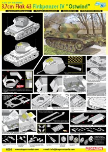 3.7 cm FlaK 43 Flakpanzer IV Ostwind - DML 6550