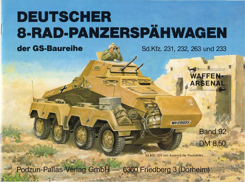 The arsenal of weapons 092 - German 8-wheel armored spahwagen