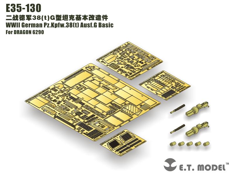 E. T. MODEL E35-130 - Pz.Kpfw.38(t)