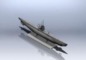 U-Boat Type IIB (1943) - deutscher U-Boot - ICM S010