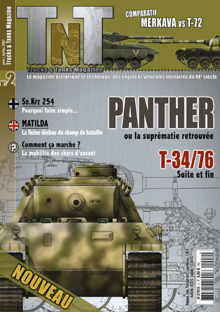 Panther Ausf. D & A - T-34/76 - Sd.Kfz 254 - Matilda - Revue TnT 02