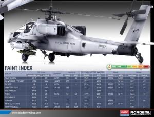 AH-64A - Cinza Camo 2003 - ACADEMIA 12239