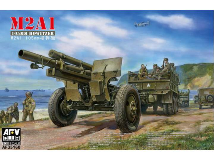AFV Club 35160 - 105mm Haubicų M2A1