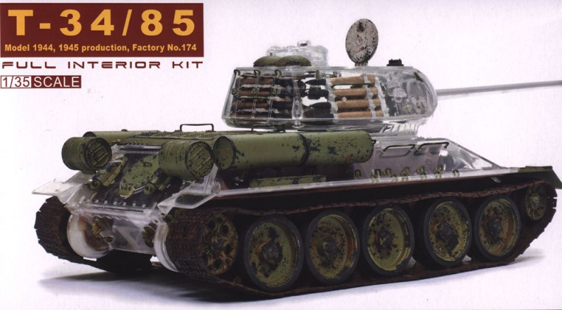 AFV Club 35S56 - T-34/85 174 Factory - Transparenter Rumpf