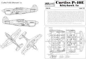 "Curtiss Kittyhawk MK.IA - AZ-Modell ""Legato"" 7225"