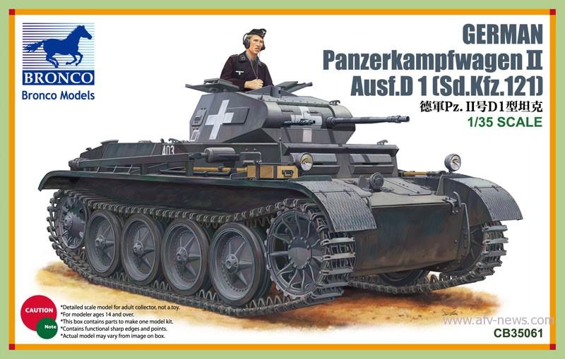 PanzerKampfwagen II på Vej D1 - BRONCO CB35061