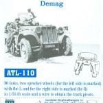 Κομμάτια Λάιχτερ Zugkraftwagen 1t - FRIULMODEL ATL-110