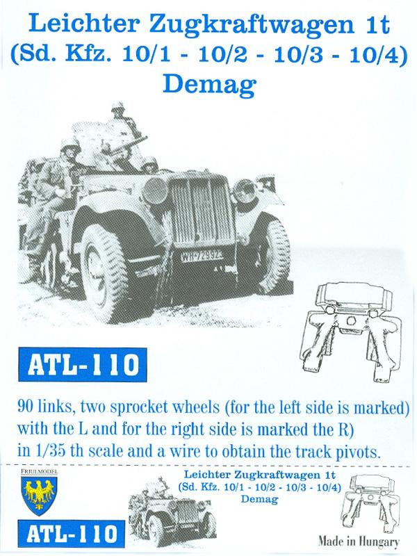 Pistas de Leichter Zugkraftwagen 1t - FRIULMODEL ATL-110