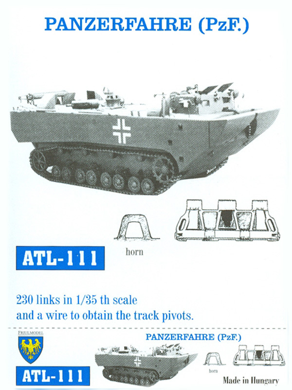 Faixas do tanque de passeio - FRIULMODEL ATL-111