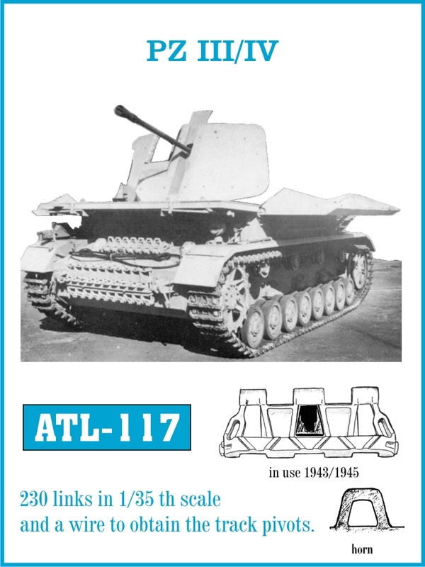 Tracce for PZ III / IV in use 1943-45 - Friulmodel ATL 117