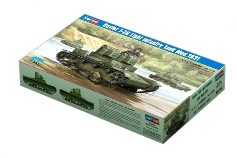 Soviet T-26 Light Infantry Tank Mod.1931 - HOBBY BOSS 82494