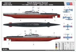 Prantsuse Allveelaev Surcouf - HOBBY BOSS 83522