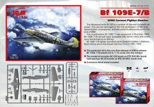 ICM 72135 - Bf 109E-7/B - WWII German Fighter-Bomber