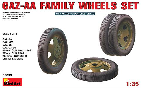 GAZ-AA Family Wheels Set – MiniArt 35099