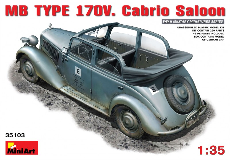 MB TYPE 170V Cabrio Saloon - MiniArt 35103