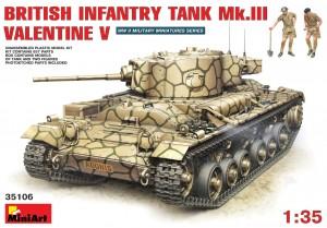 Tanque de san Valentín V avec de la Tripulación de MiniArt 35106