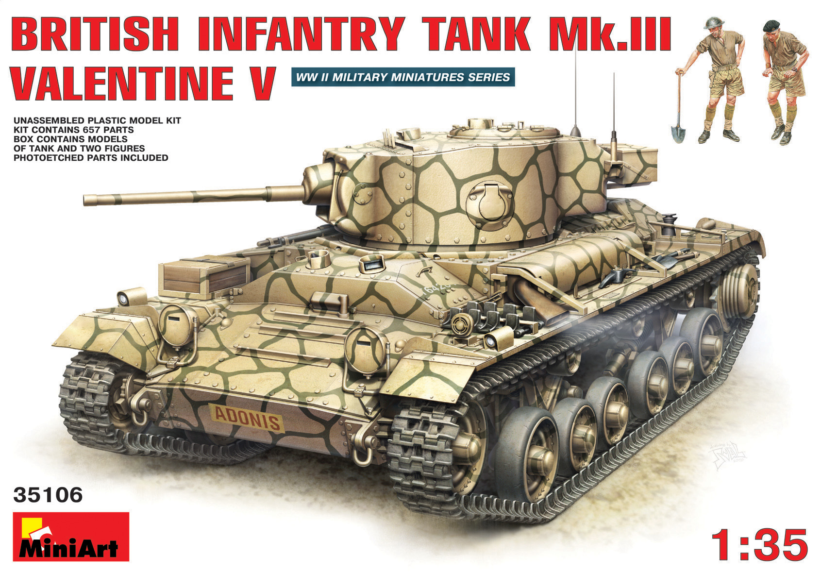 Tank Valentine V avec Crew - MiniArt 35106