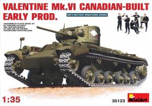 VALENTINE Mk. VI CANADIAN - BUILT EARLY PROD. - MINIART 35123