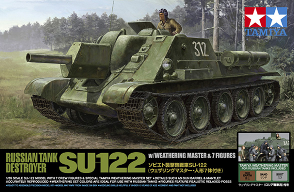 Russian Tank Destroyer SU-122 - TAMIYA 25111