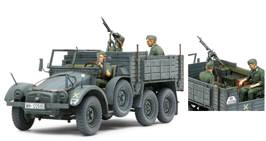 6X4 Camion Krupp Protze (Automobile).70) Personnel Carrier - TAMIYA 35317