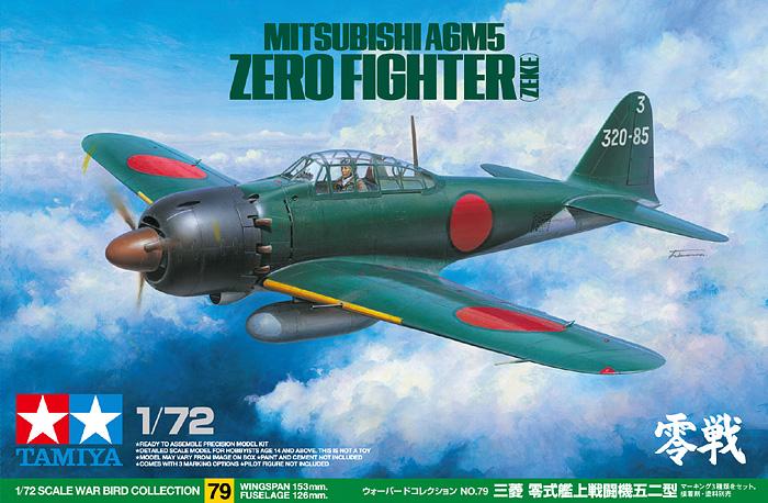Mitsubishi A6M5 Nulio Kovotojas (Zeke) - Tamiya 60779